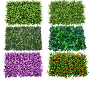 New Plastic parede gramado verde Plantas Artificiais Green Grass flor de plástico Fábrica de casamento Decoração de mesa Decoração
