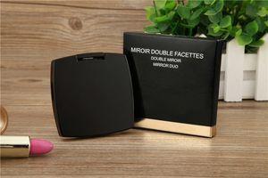Горячая продажа 2019 Новый классический стиль с логотипом Складные двойное зеркало сторона HD с подарочной коробке высокого качества черный макияж зеркало портативный VIP подарок