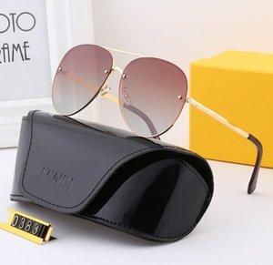 0383 # DesignerSunglasses Moda Erkek Kadın BrandGlasses FF Polarize Açık tatil Çift güneş gözlüğü Lüks Sunglass zx 2020523K