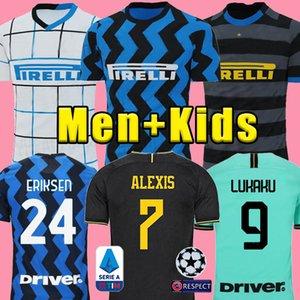 ERIKSEN Lukaku Lautaro SKRINIAR Inter 2020 2021 Milan futbol forması SENSI Barella forması 20 21 futbol üst kiti gömlek Erkekler Çocuk üniforma setleri