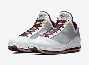 LeBron 7 MVP para venda com caixa de sapatos de crianças Media Day Lakers basquete masculino barato Atacado frete grátis US7-US12