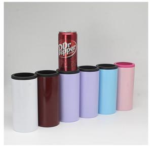 Çift duvar İzoleli Soğuk Vakum Tankı şişe Tutucu soğutucusu kaleci YENİ 12oz Skinny Can Cooler 12oz Paslanmaz Çelik bira Cola şişesi soğuk