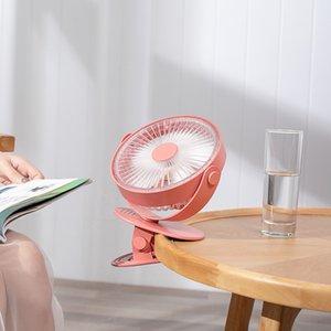 360 градусов вращающийся USB аккумуляторная 4000mAh клип Desktop Вентилятор Мини зажим настольный вентилятор портативный с Night Light Air Cooler Fan