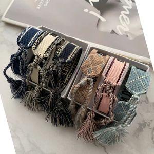 Adjustable femme Designer Bracelets Lovers Bracelet Embroidery Tassel For Women men Rope Bracelet&bangle friendship Jewelry