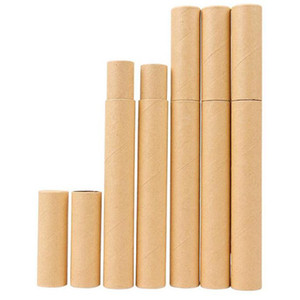 Black Kraft Papel Tubo de incienso Incienso Barril Pequeño Caja de almacenamiento para lápiz Joss Stick Conveniente llevando 20.7x2.1 cm