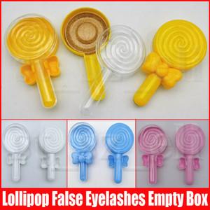 3D норковые Ресницы пустая коробка Lollipop Ресницы Пакет Ложные Ресницы Дело Mink Lashes хранения Box Творческий Круглый Lash Коробки