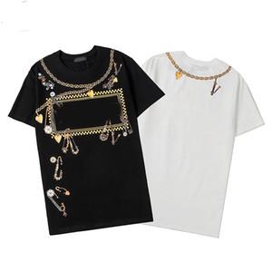 2020 modacı marka P-P sıcak elmas zincir kalp tişört erkek tişört erkek gömleği kısa kollu tişört S-XXL
