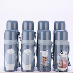 Stainless Steel Water Bottle Heat Insulation Bullet Vacuum Cup Pupil Portable Kettle Men And Women Press Hot Sale Button 12sj C1