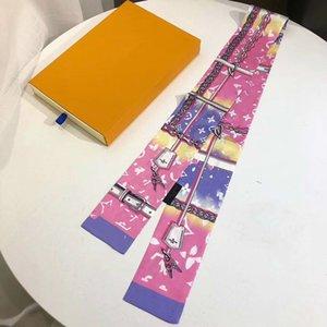 2020 designer head fashion handbag scarf decoration ribbon men and women silk scarves size120*8cm