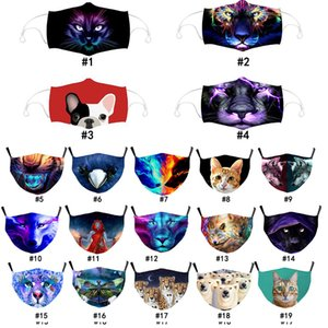 New 3D Animals Designer face mask with filter cotton reusable face masks Summer Out Door Sport Riding Masks Fashion Designer Mask for Adults