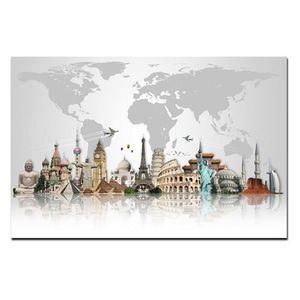 Биг Бен Эйфелева башня Картина маслом Современные Nordic холст Плакат Печать Абстрактные стены искусства известных зданий Изображение для гостиной Home Decor