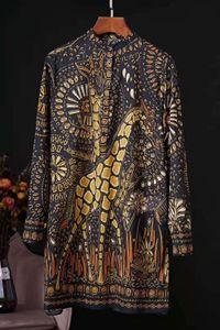 Французский стиль арт ретро 2020 весенний перерыв лев жираф печати талии рубашка юбка дешевый бесплатная доставка