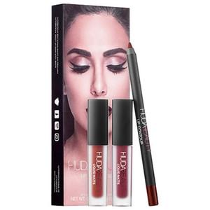 HUDA 멋있지 Ylip 상자 립글로스 메이크업 뷰티 MC 립글로스 화장품 2 립글로스 + lipliner PVC 케이스 브랜드의 새로운 키트