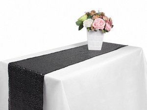 Hot Silver Gold Sequin Table Runner Wedding Table Decoraiton Car Covers Decorations For Home Mandala Tapete Coussin Cloth 120 Inch Tab a3rI#