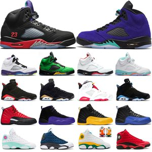 Nike Air Retro Jordan Basketball Shoes Scarpe da basket Mens Trainers 5s alternativo Uva Luce Aqua 12s Università oro scuro Concord 13s Flint Aurora Verde Sport Sneakers