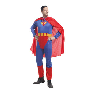 Adult MenCostume Jumpsuit Man Costumes Halloween Purim Party Carnival Cosplay Outfit