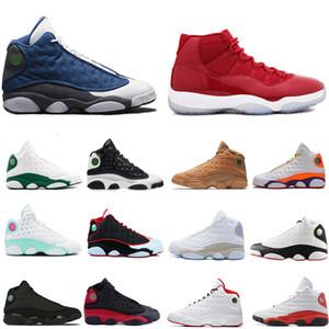Green Island 13 13s lakers allevati Chicago scarpe uomini donne pallacanestro cappello e abito 11 11s Concord metallici scarpe da ginnastica mens d'argento di sport con la scatola