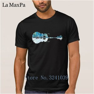 Classical T-Shirt Short Sleeve Cotton Spring Men Tshirt Nature Guitar Blues T Shirt For Men Clothes O Neck High Quality