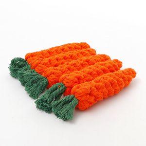 도매 당근 애완 동물 장난감면 로프 매듭 개 당근 물린 방지 꼰 장난감 애완 동물 용품 강한 꼰 밧줄 제품 스팟