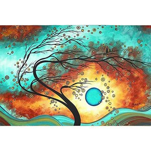 Dead Branches Moon Full Drill 5D Diamond Round Rhinestone Embroidery Painting DIY Cross Stitch Kit Mosaic Draw Home Decor Art Craft Gift