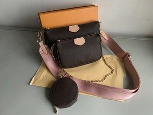 حار بيع الأزياء حقائب اليد والمحافظ النسائية المفضلة مصغرة مل 3pcs pochette الاكسسوارات CROSSBODY حقيبة vintag حقائب الكتف جلد الأشرطة متعددة الألوان
