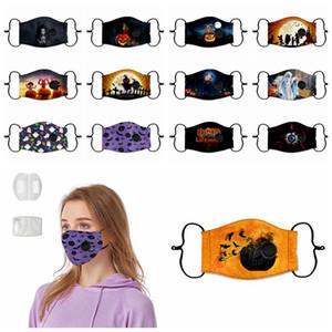 Ognissanti Funny Face Mask PM2.5 antipolvere lavabile valvole maschere antipolvere maschere di stampa Designer 13styles RRA3319