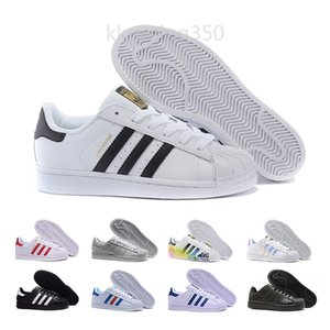 2019 Super Star White Hologram Iridescent Junior Superstars 80s Pride Womens Mens Trainers Superstar Casual Shoes Size 36-45 YF99G
