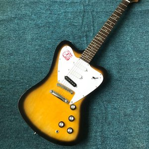 Wholesale custom new products high-quality shaped 6-string electric guitar, silver hardware, free shipping