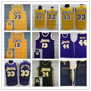 Männer Qualitäts-preiswerter Basketball Jersey Rodman 73 Johnson 32 Jabbar 33 Worthy 42 Chamberlain 13 Oneal 34 West-44 Sport genähtes Jersey