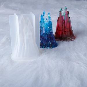 Château Forme Résine Moisissures DIY UV résine époxy moule en silicone pour Décorations Accueil Faire Artisanat d'Art casting Moisissures