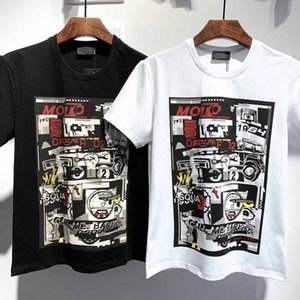 20SS Men's and Women's T-shirts Summer fashion Quality cotton short-sleeved Printed T-shirts T-shirts Black and white