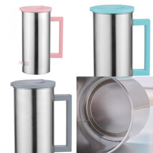 Stainless Steel Cold Water Bottle Man Woman High Capacity Fruit Juice Drinks Bottles White Grey Multipurpose Coffee Cup 12ba L1