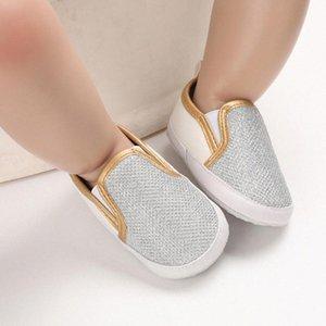 Bebek Ayakkabı Tok rengi Birinci Yürüyenler Ayakkabı Bebek Çocuk Kız bebekler Paillette Deri Spor ayakkabılar Casual Kaymayan Yumuşak Ayakkabı jkwQ #