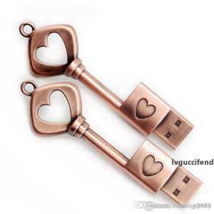Real Capacity The key to love Metal USB flash drive 32GB~64GB pen drive pendrive menmory stick