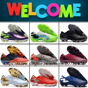 Nemeziz 19.1 Mens FG Football Shoes Soccer Cleats Firm Ground Outdoor Top Quality Leather Trainers Spots Football Boots
