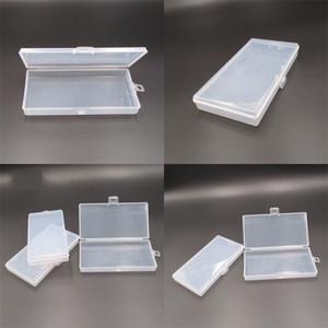 2 centímetros Esvaziar armazenamento Lock Box plástico transparente Pp gancho de pesca engrenagem Caso Flap Poeira Retângulo organizador Máscara embalagem levemente 0 B2 5NP
