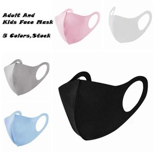 5 Colors Adult And Kids Face Mask Breathable Reusable Anti Dust Masks Ice silk Cotton Masks ZZA2411