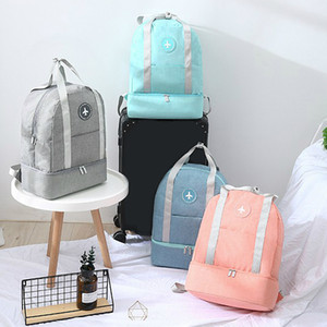 Luggage Travel Bag ouble Layer Design Duffel Storage Clothes Shoes Bag Bra Underwear Pouch Waterproof Portable Storage Zip Pouch CX200711