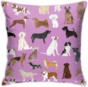 N A Home Gift Pillow Sofa Cushion Dogs Cute Dog Purple Dog Couple party decoration18X18inch(45CMX45CM)