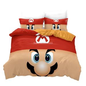 Большой нос Борода Mario Cute Характер печатных Пододеяльник Super Mario 3D World пододеяльник наволочки Дети Спальня Постельное белье Подарки