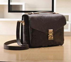 NEW Top quality PU genuine real leather women's handbag pochette Metis shoulder bags crossbody bags messenger handbags purse #6658