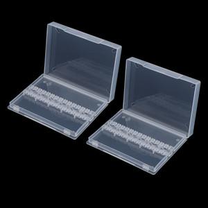2pcs Nail Art Drill Bit Holder Stand Polishing Bit Organizer Box Case Clear