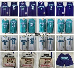 CarlottaHornetsJersey 1 Muggsy Bogues 2 Larry Johnson 30 Dell Curry 33 Alonzo Mourning 1992-1993 Mitchell Ness pallacanestro Jersey
