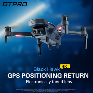 OTPRO mini drone GPS 5.8G 1KM Foldable Arm FPV with 4K UHD 1080P Camera RC Dron Quadcopter RTF High Speed drones ufo Helicopter T200714
