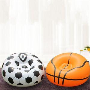 Beflockung Inflation Fußball-Basketball-Sofa PVC Kleine Sized Wohnung von Einrichtungs Sofa Einzelperson Einfache Weiche Kreative Sofas 32pgD1