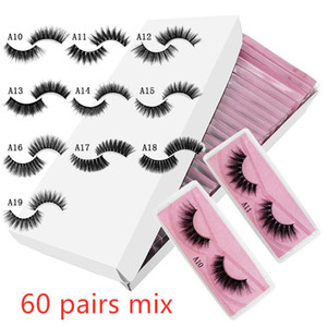 wholesale 3d mink false eyelashes A# fake lashes natural long makeup lash extension in bulk pink background DHL free