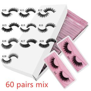 оптовые 3d норка ложных ресницы # поддельных ресницы естественных макияж длинного наращивания ресниц в объемном розовом фоне DHL бесплатно