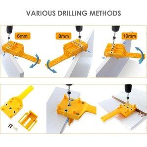 Handheld Dowel Jig ABS Plastic Madeira Jig bolso Buraco para 6 Guia, 10mm Dowel Juntas de Perfuração Ferramentas de tratamento de madeira