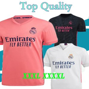 كرة القدم بالقميص 3XL 4XL ريال مدريد 20 21 HAZARD يوفيتش MILITAO camiseta دي فوتبول 2020 2021 VINICIUS أسنسيو قميص كرة القدم camisa دي futebol