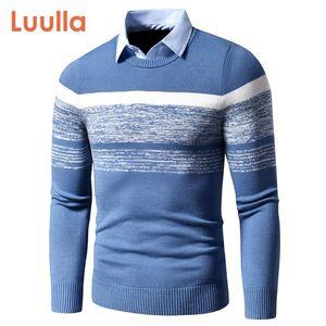 Uomini 2020 autunno inverno casuale nuovissimo maglione caldo pullover con un colletto da uomo Knitting pattern Outfits Sweater Coat
